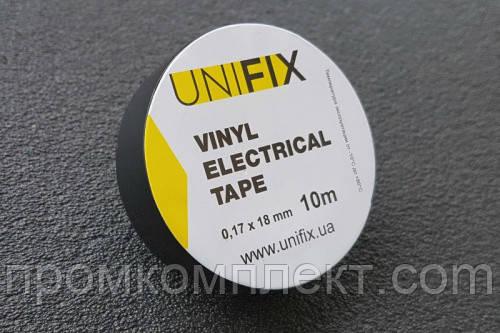 Ізолента 0,17ммх18ммх10м чорна (універсальна) (кратно упаковці — 10 шт.) UNIFIX