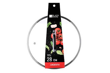 Кришка для сковороди Ardesto Black Mars 28 см Скло (AR0728SL), фото 2