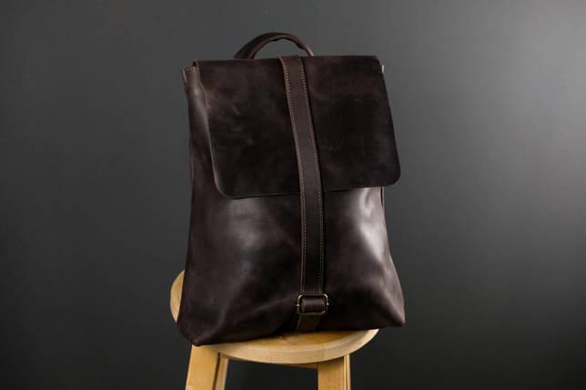 Рюкзак Трансформер Вінтажна шкіра колір Шоколад, фото 2