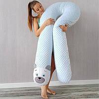 Подушка обнимашка U-образная для беременных XL - 170 см Плюшевая