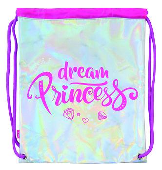 Сумка мешок на шнурках для сменной обуви школьнику YES DB-11 Dream Princess Разноцветная (556383)
