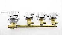 Змішувач для душової кабіни, на чотири вузли для паралельного включення Г6511