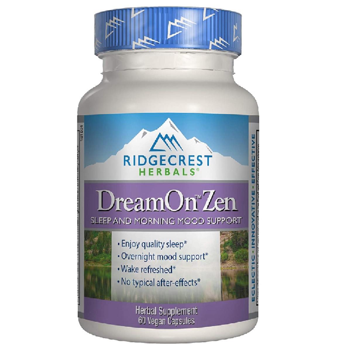 Природный Комплекс для Здорового Сна, DreamOn Zen, RidgeCrest Herbals, 60 вегетарианских капсул