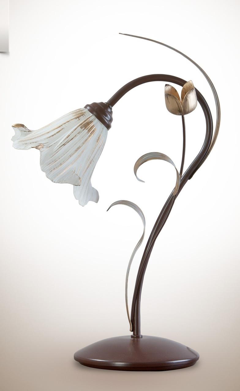 Настольная лампа металлическая, флористика  470-1