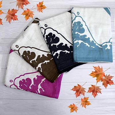 Хлопковое полотенце банное с дельфинами
