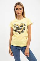 Футболка женская 138R003 цвет Желтый