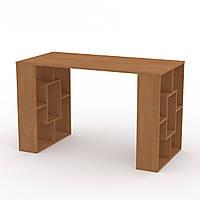 Письменный стол для школьника. Письменный стол у окна с полками. Студент-3: 1200 мм. в: 738 мм г: 600 мм
