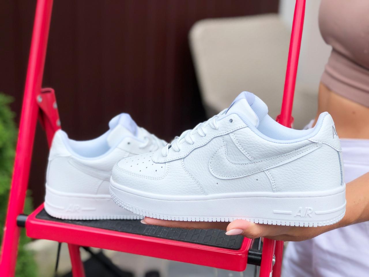 Женские кроссовки Nike Air Force (белые) 9711