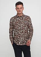 Мужская рубашка Burning Palms с длинным рукавом S Разноцветная 7170418-S, КОД: 1477944