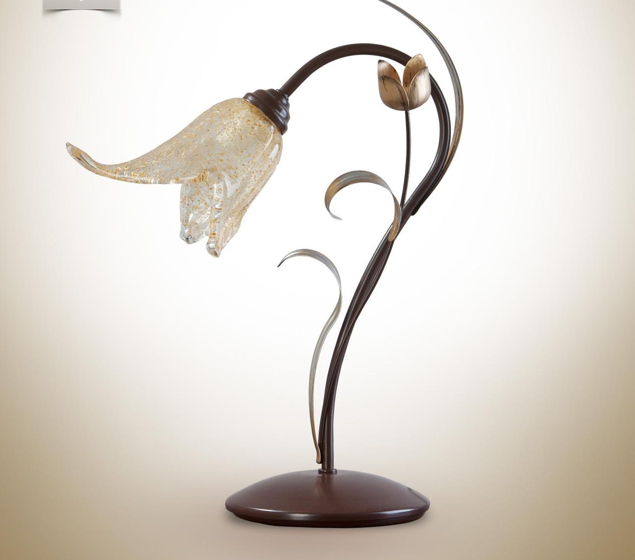 Настольная лампа металлическая, флористика 470-2