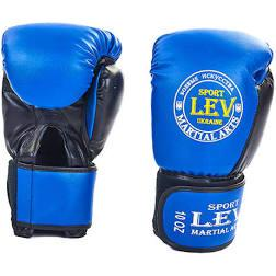 Рукавички бокс Lev Sport КЛАС 10 унц, шкіра сині