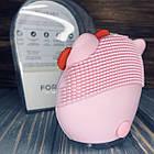 Електрична щітка-масажер для чищення особи Forever Рожева, фото 3