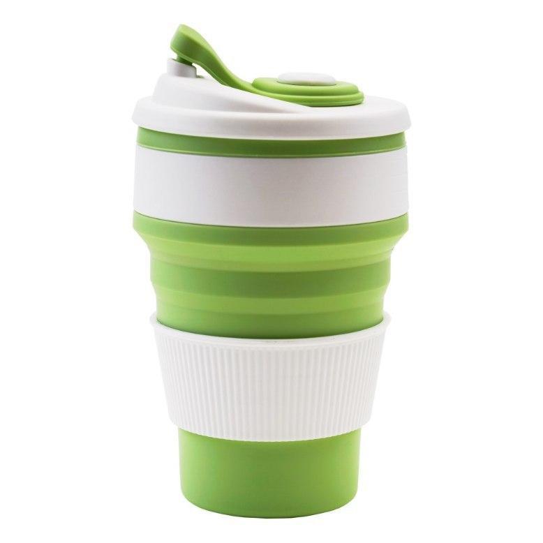 Чашка силиконовая складная Collapsible Зеленая 1056