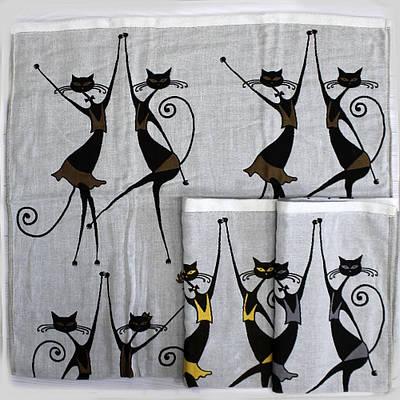 Хлопковое полотенце банное с котиками