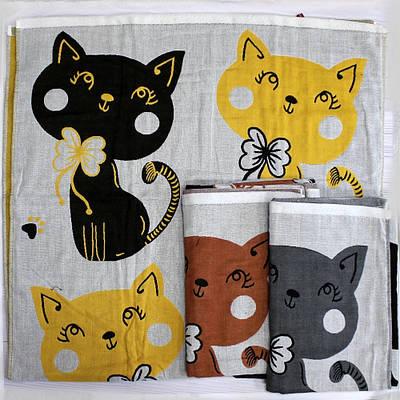 Хлопковое полотенце банное с милыми котиками