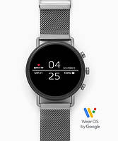 Смарт часы Skagen Falster 2 Smartwatch Googlr Wea OS с NFC Gray Magnetic Steel-Mesh Цвет  серый