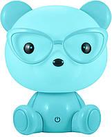 Детский светильник ночник Adenki Медвежонок Голубой 36-145869, КОД: 1098659