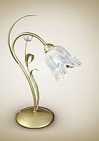 Настольная лампа металлическая, флористика 470-3
