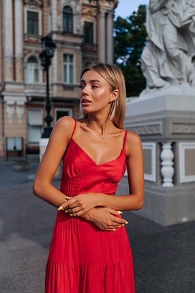 Шикарное красное платье, фото 2