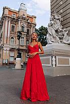 Шикарное красное платье, фото 3