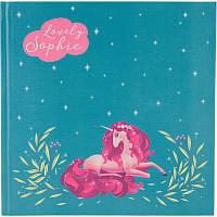 Блокнот скетч бук Kite Lovely Sophie K20-230-1, 165х165 мм, 80 листов, нелинованный, голубой