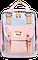 Женский городской рюкзак Doughnut Macaroon розовый Код 11-0027, фото 5