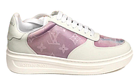 """Жіночі Кросівки Louis Vuitton Sneakers """"Pink White"""" - """"Рожеві Білі"""""""