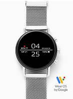 Смарт часы Skagen Falster 2 Smartwatch Googlr Wea OS с NFC Цвет корпуса полированная сталь