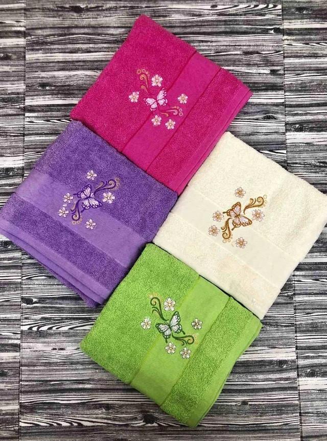 Махровий рушник для обличчя та рук з вишивкою