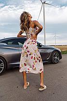 Платье-комбинация в цветочный принт, фото 3