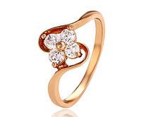 Нежное кольцо Цветок Ювелирная бижутерия 18k Размер 16