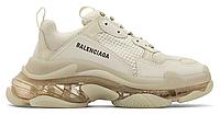 "Женские Кроссовки Balenciaga Triple S Clear Sole ""Beige"" - ""Бежевые Желтые"", фото 1"