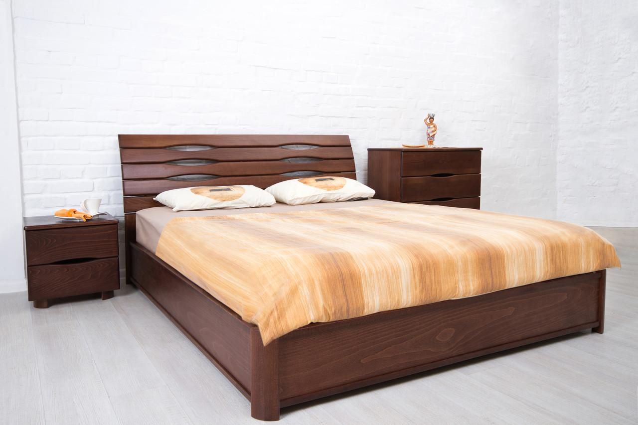 Кровать двуспальная деревянная   Мария  Микс мебель, цвет на выбор