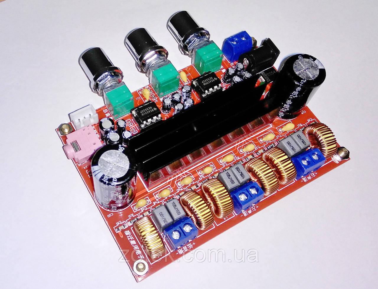 УЦЕНКА 2. Аудио усилитель мощности XH-M139 - TPA3116D2 50Вт*2+100Вт 2.1 DC 12-24В