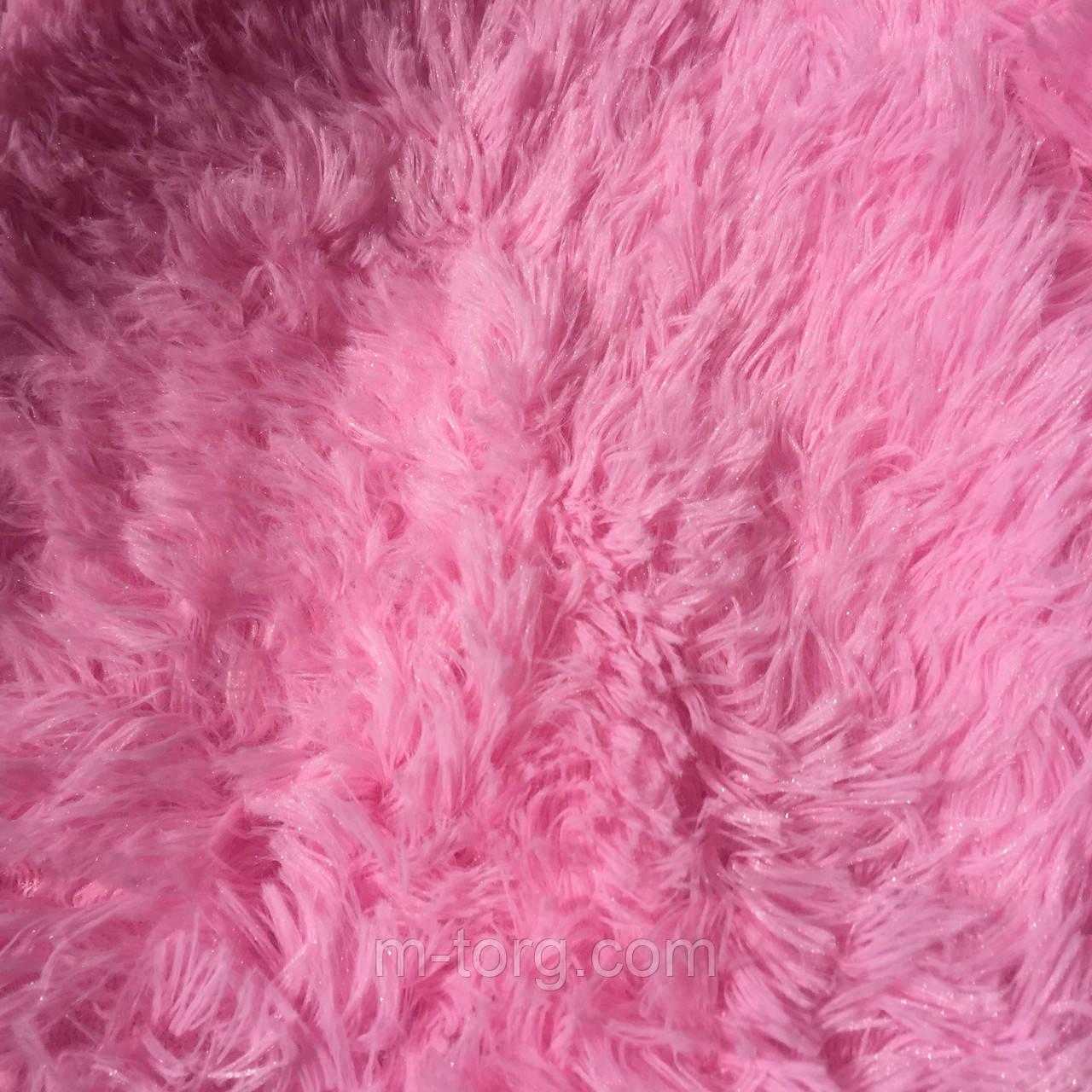 """""""розовый"""" пушистый плед """"травка"""" евро размер 220*240 см"""