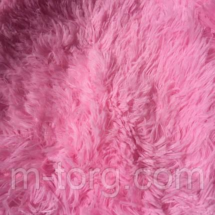 """""""розовый"""" пушистый плед """"травка"""" евро размер 220*240 см, фото 2"""
