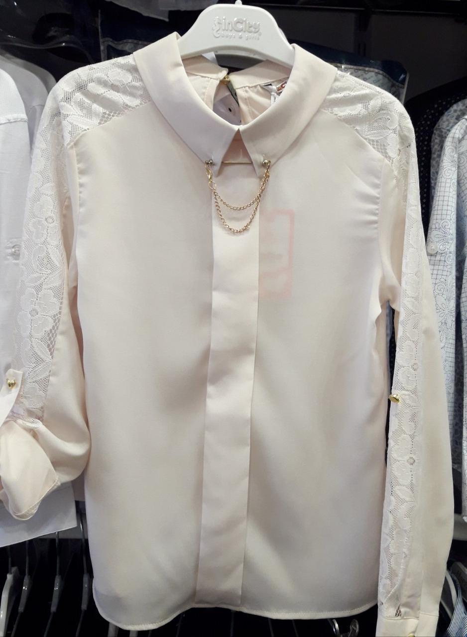 Костюм для дівчинки INCITY ( Блуза і Спідниця) шкільний, пр-Туреччина, колір - Кремовий