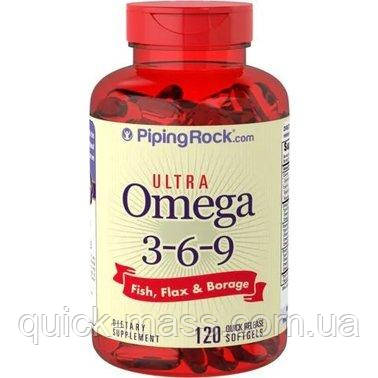 Мульти-омега-3-6-9 Piping Rock Multi Omega 3-6-9 Fish, Flax & Borage 120 Softgels