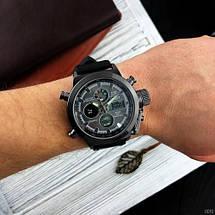 Качественные мужские армейские наручные часы AMST 3003 All Black .Оригинал, фото 2