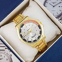 Мужские Оригинальные наручные часы Curren Gold-White