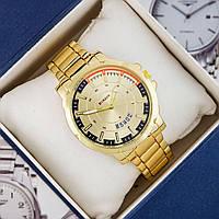 Мужские Оригинальные наручные часы Curren All Gold