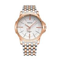 Мужские Оригинальные наручные часы Yazole Quartz 358 Cuprum-Silver-White