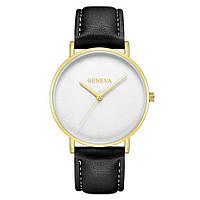 Мужские Оригинальные наручные часы Geneva Classic Black-Gold-White