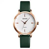 Женские Оригинальные наручные часы Skmei 1457 Gold-White-Green