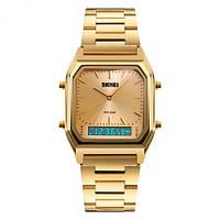 Мужские Оригинальные наручные часы Skmei 1220 Gold