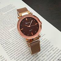 Женские Оригинальные наручные часы Geneva Gold-Brown
