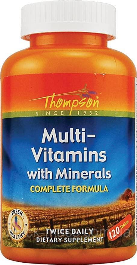 Комплекс витаминов и минералов Thompson Multi-Vitamins with Minerals Complete Formula 120 tab
