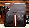 Мужская сумка через плече брендовая повседневная офисная модная стильная кожаная сумка