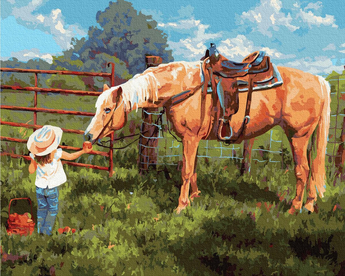 Живопись по номерам Любимая лошадка GX35204 Rainbow Art 40 х 50 см (без коробки)