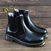Мужские зимние кожаные ботинки/челси в стиле Dr. Martens Chelsea Black